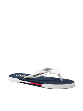 Tommy Jeans Tommy Jeans Джапанки Beach Sandal EM0EM00731 Бял