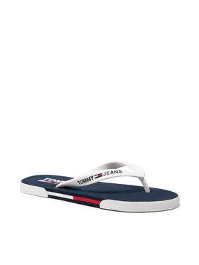 Tommy Jeans Tommy Jeans Šlepetės per pirštą Beach Sandal EM0EM00731 Balta