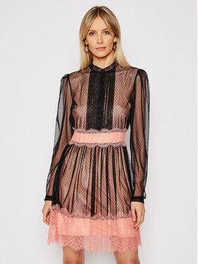 TwinSet TwinSet Коктейлна рокля 202TP2201 Черен Refular Fit