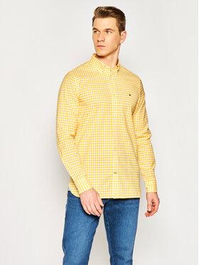 TOMMY HILFIGER TOMMY HILFIGER Košile Natural Soft Gingham MW0MW13448 Žlutá Slim Fit