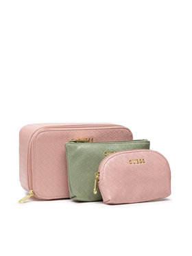 Guess Guess Set di pochette per cosmetici Emelyn Accessories PWEMEL P1350 Rosa