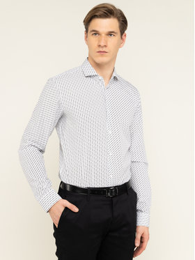 Hugo Hugo Koszula Erriko 50420845 Biały Extra Slim Fit