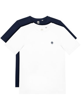 Timberland Timberland 2-dielna súprava tričiek T25S27 S Biela Regular Fit