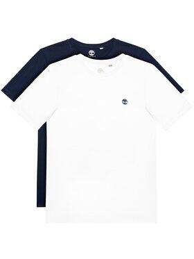 Timberland Timberland Lot de 2 t-shirts T25S27 S Blanc Regular Fit