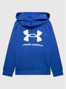 Under Armour Under Armour Pulóver Ua Rival Fleece Big Logo 1357585 Kék Loose Fit