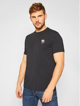KARL LAGERFELD KARL LAGERFELD T-Shirt Crewneck 755027 502221 Granatowy Regular Fit