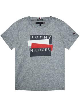 TOMMY HILFIGER TOMMY HILFIGER Marškinėliai Sticker Tee S/S KB0KB05849 M Pilka Regular Fit