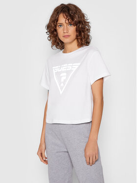 Guess Guess T-shirt Caren O1BA70 JR06Z Bianco Relaxed Fit