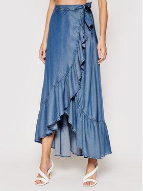 Guess Guess Maxi suknja W1GD85 D4D21 Plava Regular Fit