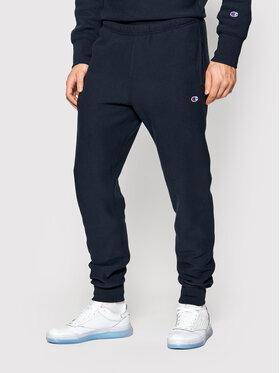 Champion Champion Pantaloni da tuta Ribbed Cuffs Reverse Weave 216541 Blu scuro Custom Fit