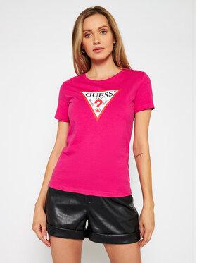 Guess Guess T-Shirt Original W1RI00 I3Z11 Růžová Regular Fit