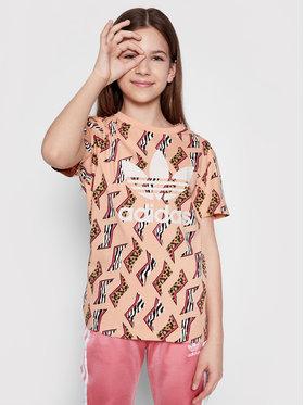 adidas adidas T-Shirt Allover Print Tee GN2238 Barevná Regular Fit