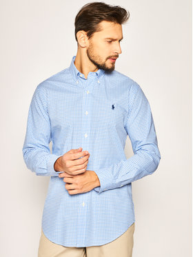 Polo Ralph Lauren Polo Ralph Lauren Košeľa Bsr 710792044 Modrá Custom Fit