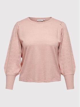 ONLY Carmakoma ONLY Carmakoma Sweter Carmirla 15231765 Różowy Regular Fit