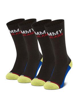 Tommy Jeans Tommy Jeans Set de 2 perechi de șosete lungi unisex 100000400 Negru