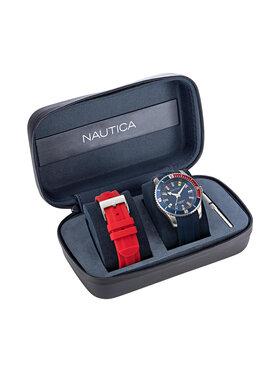 Nautica Nautica Ρολόι Pacific Beach Box Set NAPPBS038 Σκούρο μπλε