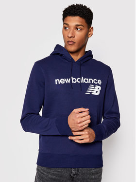New Balance New Balance Bluza C C F Hoodie MT03910 Granatowy Relaxed Fit