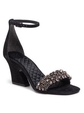 Tory Burch Tory Burch Basutės Crystal 70mm Sandal 80682 Juoda