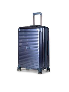 Puccini Puccini Közepes keményfedelű bőrönd Dallas PC027B 7 Sötétkék