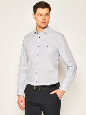 Tommy Hilfiger Tailored Tommy Hilfiger Tailored Košile Poplin Print Classic TT0TT06839 Modrá Slim Fit
