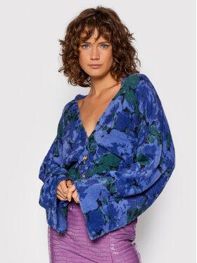 ROTATE ROTATE Strickjacke Kristina Knit Cardigan RT683 Violett Regular Fit