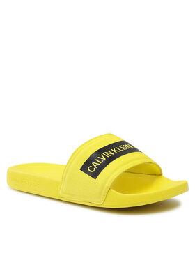 Calvin Klein Jeans Calvin Klein Jeans Mules / sandales de bain Slide Tape Inst Co YM0YM00257 Jaune