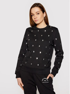 KARL LAGERFELD KARL LAGERFELD Sweatshirt All-Over Ikonik Karl 210W1807 Schwarz Regular Fit