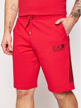 EA7 Emporio Armani EA7 Emporio Armani Športové kraťasy 3KPS67 PJ05Z 1450 Červená Regular Fit