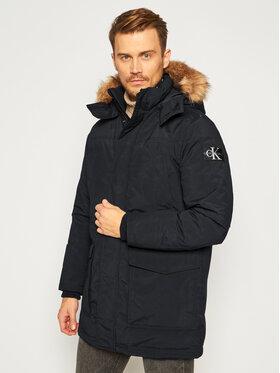 Calvin Klein Jeans Calvin Klein Jeans Parka Fur Trimmed J30J316661 Czarny Regular Fit
