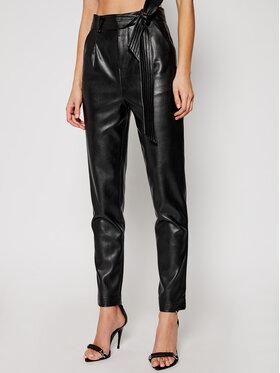 Morgan Morgan Кожени панталони 211-POPSY Черен Regular Fit
