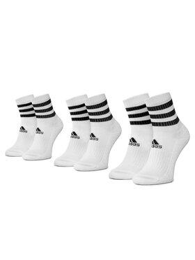 adidas adidas Комплект 3 чифта дълги чорапи мъжки 3S Csh Crw3p DZ9346 Бял