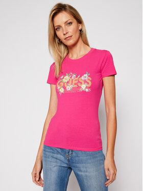Guess Guess T-shirt Janel W0BI71 J1300 Rose Slim Fit