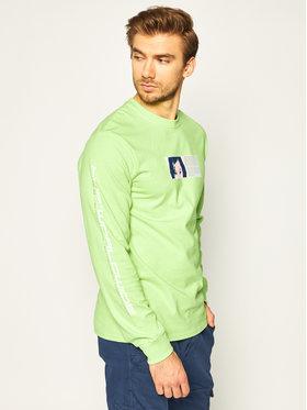 HUF HUF Bluză Wonderland TS01003 Verde Regular Fit