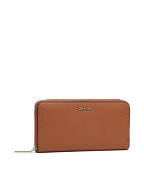 Calvin Klein Calvin Klein Μεγάλο Πορτοφόλι Γυναικείο Ck Must Z/A Wallet Lg K60K606698 Καφέ