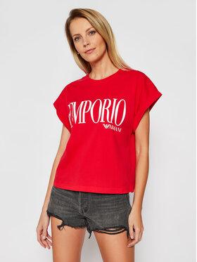Emporio Armani Emporio Armani T-Shirt EMPORIO ARMANI 262633 1P340 33974 Czerwony Regular Fit