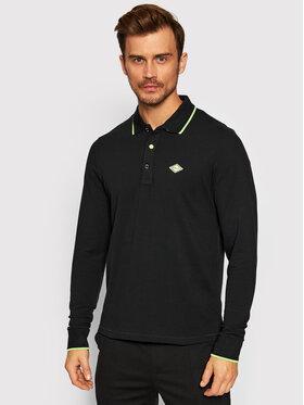 Replay Replay Тениска с яка и копчета M3545.000.21868 Черен Regular Fit