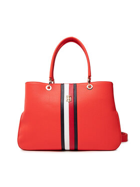 Tommy Hilfiger Tommy Hilfiger Handtasche Th Essence Satchel Corp AW0AW10115 Rot