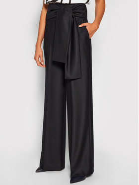 Victoria Victoria Beckham Victoria Victoria Beckham Pantalon en tissu Tailoring 2320WTR001398A Bleu marine Oversize