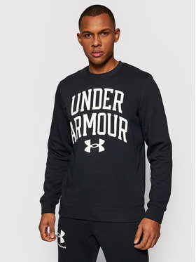 Under Armour Under Armour Majica dugih rukava Rival Terry Crew 1361561 Crna Loose Fit