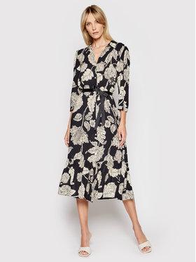 Rinascimento Rinascimento Sukienka koszulowa CFC0017773002 Czarny Regular Fit