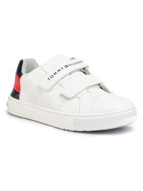 Tommy Hilfiger Tommy Hilfiger Laisvalaikio batai Low Cut Velcro Sneaker T3B4-30719-0193 S Balta