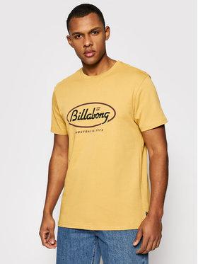 Billabong Billabong T-Shirt State Beach Tee S1SS03BIP0 Żółty Regular Fit