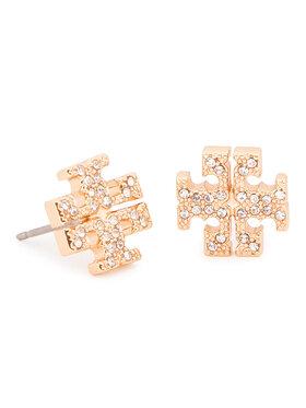 Tory Burch Tory Burch Kolczyki Crystal Logo Stud Earring 53423 Złoty
