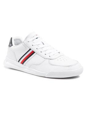 Tommy Hilfiger Tommy Hilfiger Sneakers Lightweight Leather Sneaker Flag FM0FM03471 Blanc