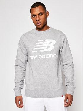 New Balance New Balance Sweatshirt Essentials Stacked Logo Crew MT03560AG Grau Athletic Fit