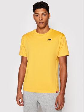 New Balance New Balance Marškinėliai Essentials Embroidered Tee MT11592 Geltona Relaxed Fit