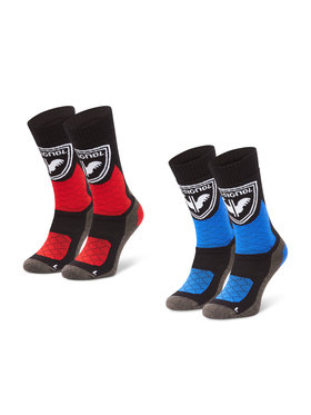 Rossignol Rossignol Súprava 2 párov vysokých detských ponožiek Jr Thermotech 2P RLJWX02 Farebná