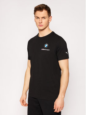 Puma Puma Tricou BMW Mms Ess Small Logo 599535 Negru Regular Fit
