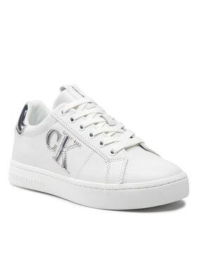 Calvin Klein Jeans Calvin Klein Jeans Sneakersy Cupsole Laceup Sneaker Logo M Bílá