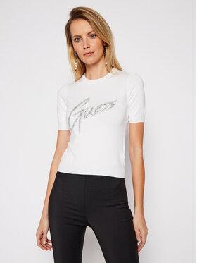 Guess Guess Bluzka Debora W1RR85 Z2NQ0 Biały Regular Fit